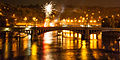 Fireworks over Vltava river. late evenong. Prague, Czech Republic, Western Europe.jpg
