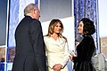 First Lady Melania Trump and Under Secretary Shannon Chat With International Woman of Courage Awardee Natalia Ponce de Leon of Colombia (32909412803).jpg