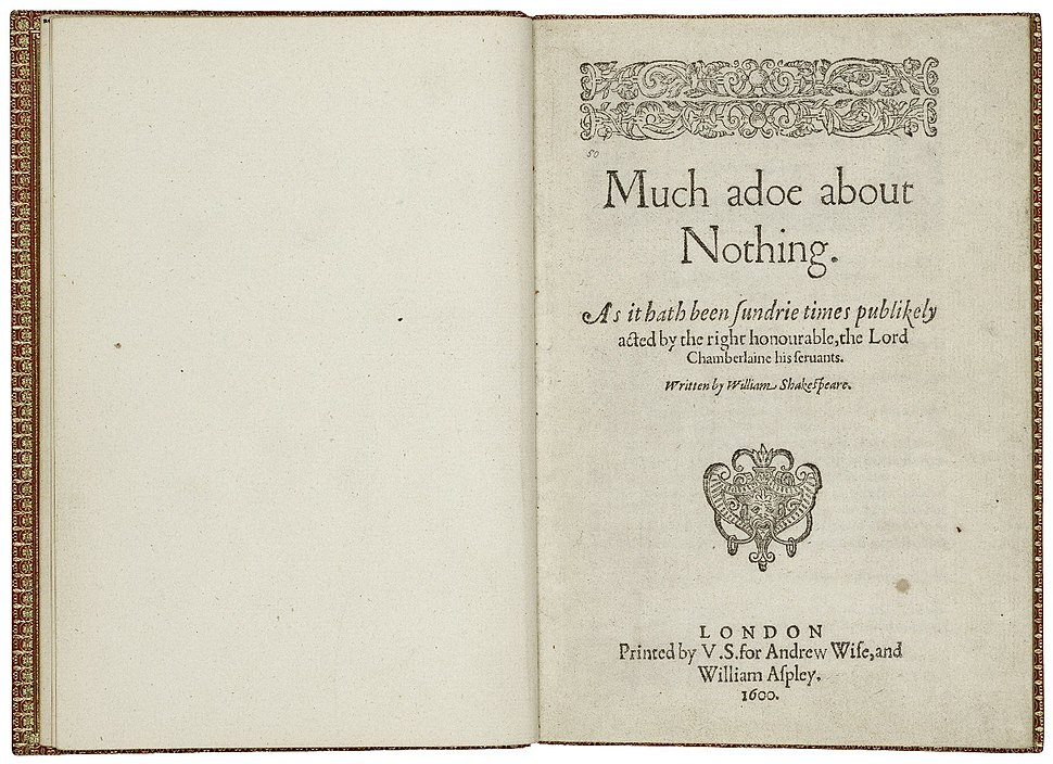 First Quarto of Much Ado About Nothing