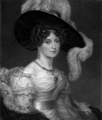 Fisher's drawing room scrap book (L.E.L., 1832) page 8 - Duchess of Kent.png