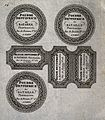 Five designs for toothpaste powder labels for a French pharm Wellcome V0010826.jpg