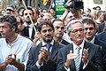 Flickr - Convergència Democràtica de Catalunya - L'alcalde de Barcelona, Xavier Trias, Oriol Pujol i Jordi Turull a la plaça Sant Jaume de Barcelona.jpg