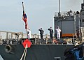 Flickr - Official U.S. Navy Imagery - Sailors salute colors..jpg