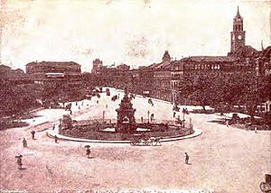Flora Fountain - Photograph of Flora Fountain taken prior to 1904