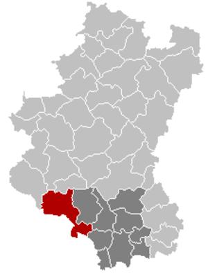 Florenville - Image: Florenville Luxembourg Belgium Map