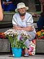 Flower Seller along Pedestrian Mall - Kaunas - Lithuania (27927595756).jpg