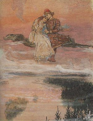 Magic carpet - Another of Vasnetsov's renderings of the same subject