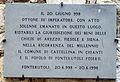 Fonterutoli, lapide ottone III imperatore.JPG