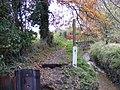 Footpath 17, Temp.closed by roadworks - geograph.org.uk - 1045606.jpg