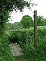 Footpath bridge and gate - geograph.org.uk - 802862.jpg