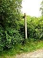 Footpath sign off Pentlow Road (geograph 4035959).jpg