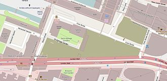 Fore Street, London - The immediate vicinity of Fore Street