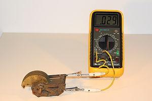 Variable capacitor - Image: Forgokondenzator 1