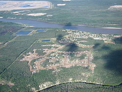 Aerial view of Fort McKay