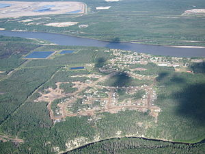 Fort MacKay - Aerial view of Fort McKay