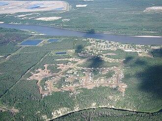 Fort MacKay - Aerial view of Fort McKay