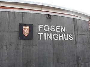 Fosen District Court - Fosen Tinghus, the sight of the Fosen District Court