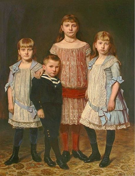 File:Four siblings in their Sunday clothes 19th century.jpg