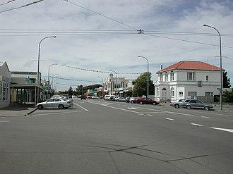 Foxton, New Zealand - Main street of Foxton