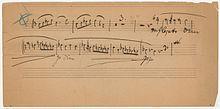 Autograph des Klaviertrios Nr. 2 C-Dur op. 87 (Fragment) (Quelle: Wikimedia)
