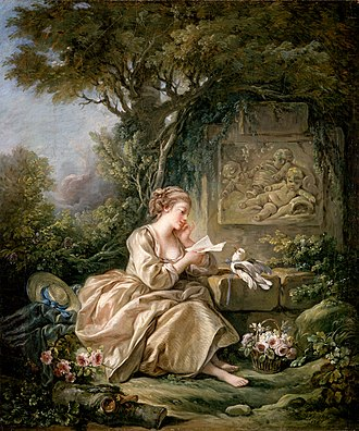 Letter (message) - François Boucher - The Secret Message, 1767 (Herzog Anton Ulrich Museum)