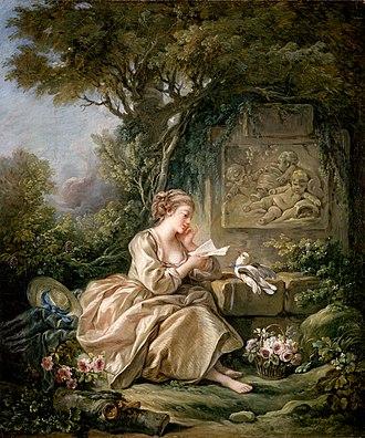 Letter (message) - François Boucher - The Secret Message, 1767 (Herzog Anton Ulrich Museum)