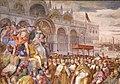 Francesco salviati e giuseppe porta detto il salviatino, Riconciliazione di papa Alessandro III e Federico Barbarossa, 1565-75, 02.jpg