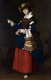 Santa margarita por francisco de zurbar 225 n ca 1631