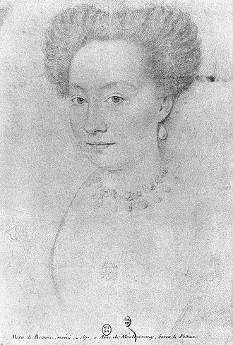 Françoise de Montmorency-Fosseux - La Belle Fosseuse by François Quesnel