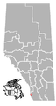 Frank, Alberta Location.png