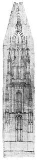 Frankfurt Am Main-St Bartholomaeus-Der Pfarrthurm-Entwurf des Meisters Madern Gertener-um 1415-alternativ.jpg