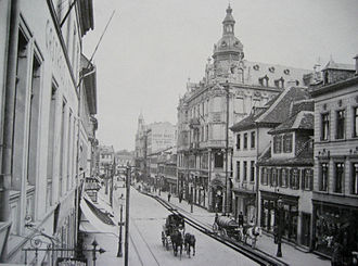 Offenbach am Main - The main street Frankfurter Straße around 1900