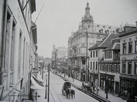 The main street Frankfurter Straße around 1900