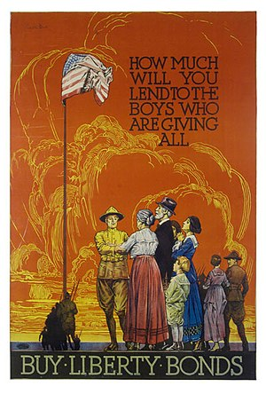 Franklin Booth - Franklin Booth, Liberty Bonds poster, World War I, 1914-1918