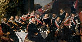 1616 in art - Image: Frans Hals Banket van de officieren van de Sint Joris Doelen