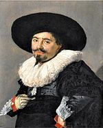 Frans Hals - portrait of a man with a wide brimmed hat facing left.jpg