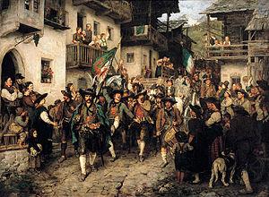 Tyrolean Rebellion - Image: Franz von Defregger Heimkehrender Tiroler Landsturm