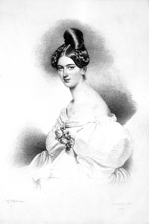 Countess Franziska Kinsky of Wchinitz and Tettau - Image: Franziska Liechtenstein Litho