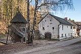 Frauenstein Schloss Wasserablaufschleusenturm und Stallgebäude 14122016 5678.jpg