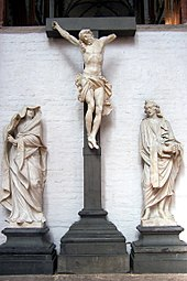Crucifixion (fragment) of the High Altar of St. Mary's Church, Lubeck Fredenhagenaltar Kruzifix.JPG