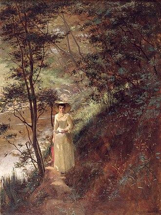 Frederick McCubbin - Image: Frederick mc Cubbin The Letter, 1884