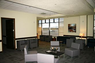 Colorado Springs Airport - Inside the Mortgage Solutions Financial Premier Lounge.