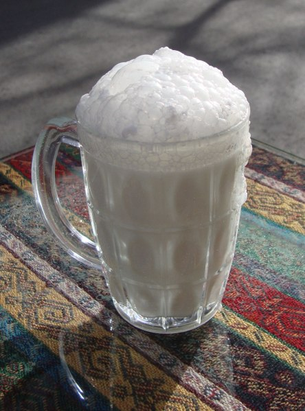 Ayran - a salty yogurt drink. From Best Street Foods in Istanbul, Turkey