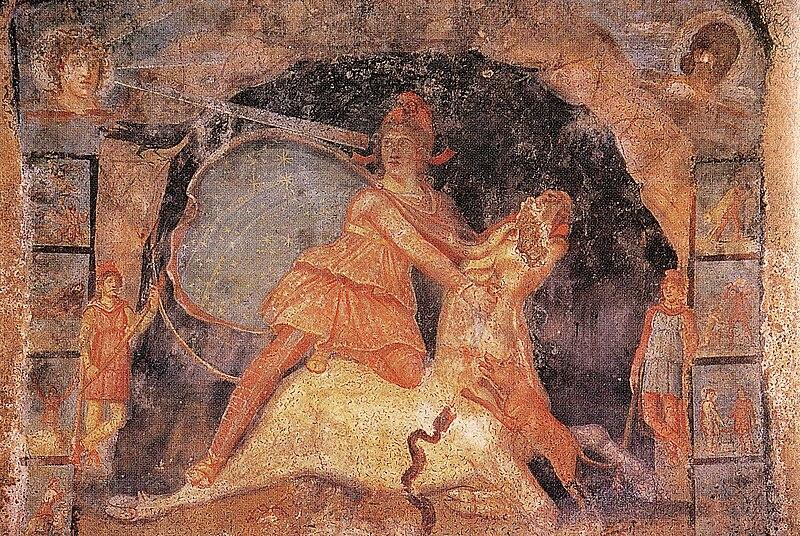 File:Fresque Mithraeum Marino.jpg