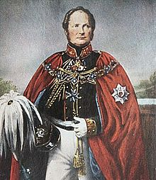 Friedrich wilhelm iv wearing the collar and cloak of the order of the