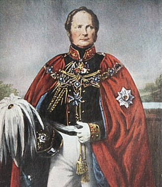 Order of the Black Eagle - Friedrich Wilhelm IV, wearing the collar and cloak of the Order of the Black Eagle. Original portrait by Krüger
