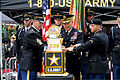 From left, U.S. Army Command Sgt. Maj. Cal Christensen, the command sergeant major of the U.S. Military Academy Band, Gen. John Campbell, the vice chief of staff of the U.S. Army, and Pvt. Justin Paradiso, an 130614-A-KF670-814.jpg