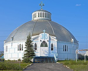 Our Lady of Victory Church (Inuvik) - West (front) view, 2015