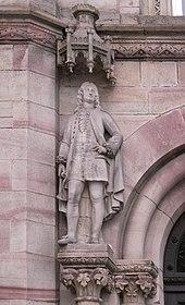 Statue Münchhausens an der Universität Göttingen (Quelle: Wikimedia)