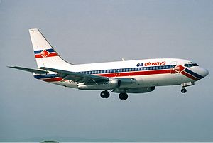 GB Airways - A GB Airways Boeing 737-200 seen in 1992.